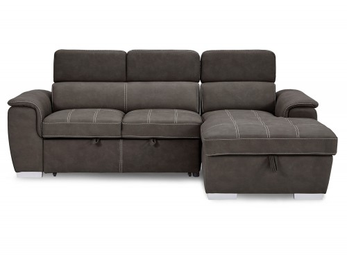 Ferriday Sectional with Pull-out Bed and Hidden Storage Set - Taupe