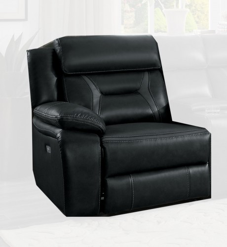 Amite Power Left Side Reclining Chair - Dark Gray