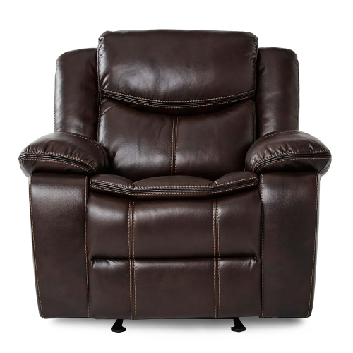 Bastrop Glider Reclining Chair - Dark Brown