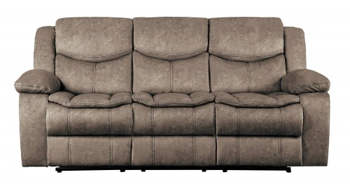 Bastrop Double Reclining Sofa - Brown
