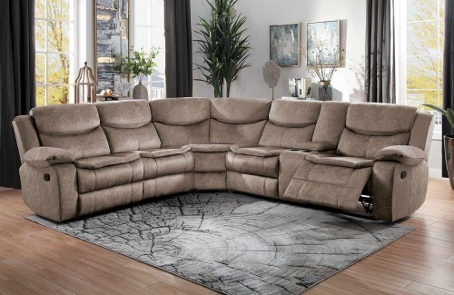 Bastrop Reclining Sectional Sofa Set - Brown
