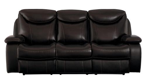 Verkin Double Reclining Sofa - Dark Brown