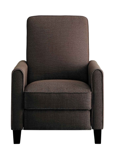 Darcel Push Back Reclining Chair - Chocolate
