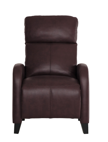 Antrim Push Back Reclining Chair - Dark Brown