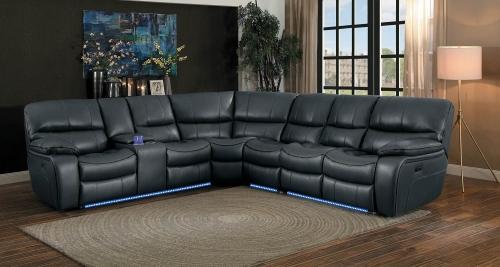 Pecos Power Sectional Sofa Set - Grey