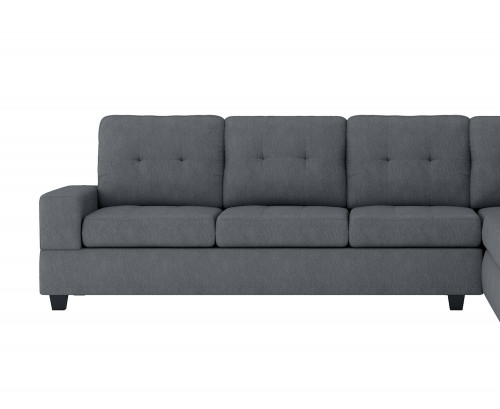 Maston Reversible 3-Seater with Drop-Down Cup Holders, Left/Right Unit - Dark gray