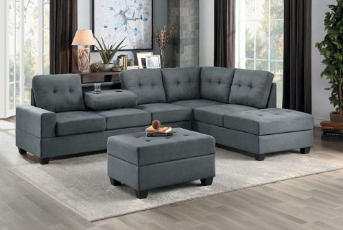 Maston Sectional Sofa Set - Dark gray