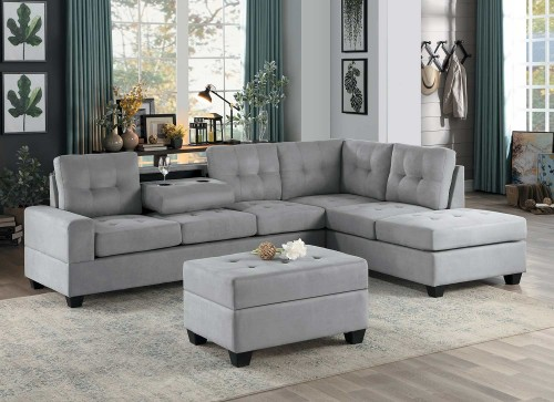 Maston Sectional Sofa Set - Light gray