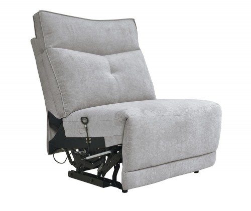 Homelegance Tesoro Armless Reclining Chair - Mist Gray