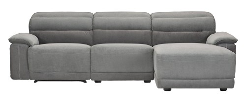 Ember Reclining Sectional Sofa Set - Dark Gray