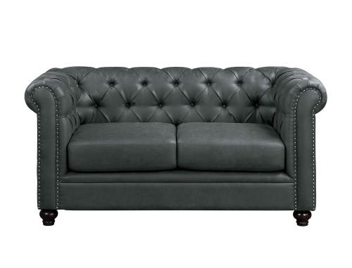 Wallstone Love Seat - Gray