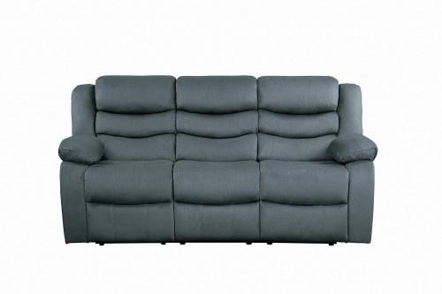 Discus Double Reclining Sofa - Gray