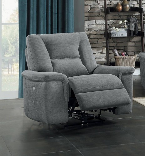 Edelweiss Reclining Chair - Metal gray