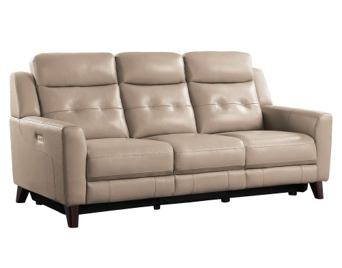 Wystan Power Double Reclining Sofa - Beige