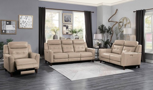 Wystan Power Reclining Sofa Set - Beige