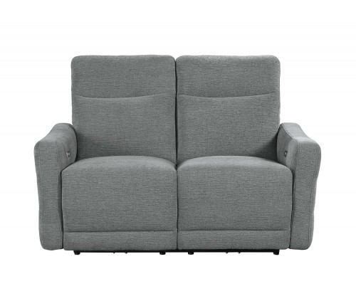 Edition Power Double Lay Flat Reclining Love Seat with Power Headrests - Dove