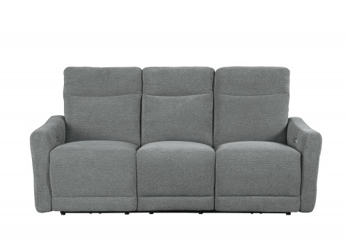 Edition Power Double Lay Flat Reclining Sofa with Power Headrests - Dove