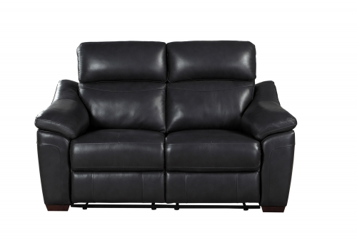Renzo Power Double Reclining Love Seat - Dark Gray