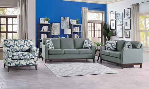 Blue Lake Sofa Set - Gray