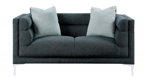 Vernice Love Seat - Dark blue gray