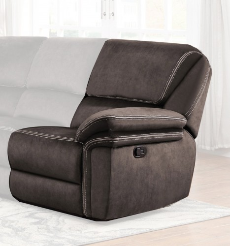 Bronagh Right Side Reclining Love Seat - Chocolate