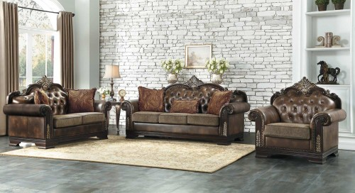 Croydon Sofa Set - Brown