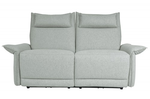 Linette Power Double Reclining Love Seat with Power Headrests - Ocean