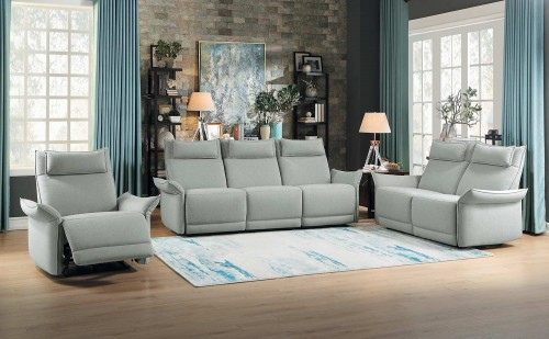 Linette Power Reclining Sofa Set - Ocean