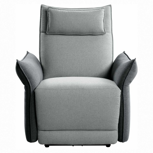 Linette Power Reclining Chair with Power Headrest - Gray