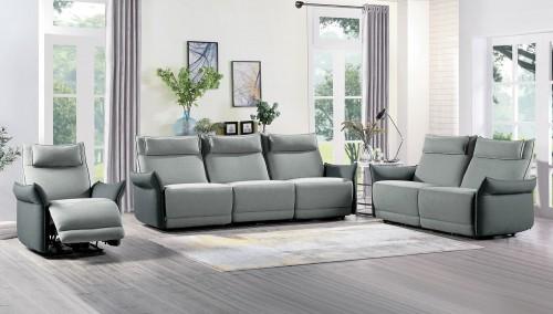 Linette Power Reclining Sofa Set - Gray