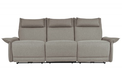 Linette Power Double Reclining Sofa with Power Headrests - Taupe