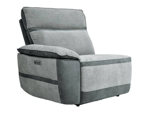 Hedera Power Left Side Reclining Chair with Power Headrest and Power Lumbar Support - Gray