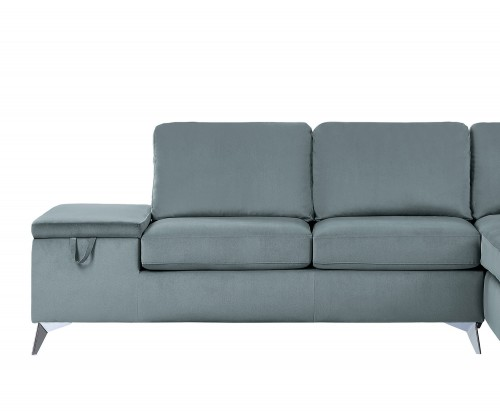 Radnor Reversible 2-Seater with Storage & Tray, Left/Right Unit - Gray