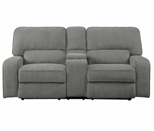 Borneo Double Reclining Love Seat with Center Console - Mocha