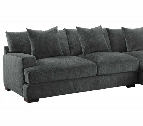 Homelegance Worchester Left Side 2-Seater - Dark gray