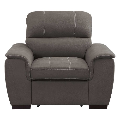 Andes Chair with Pull-out Ottoman - Taupe