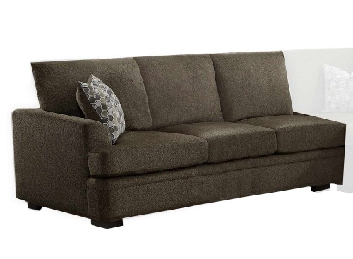 Maddy Right Side 3-Seater - Brown