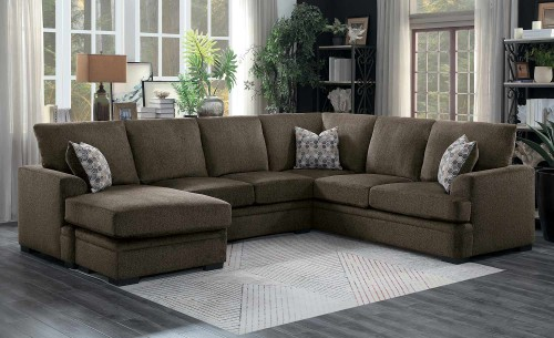 Maddy Sectional Sofa Set - Brown