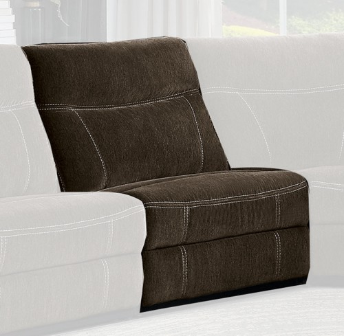Annabelle Armless Chair - Brown