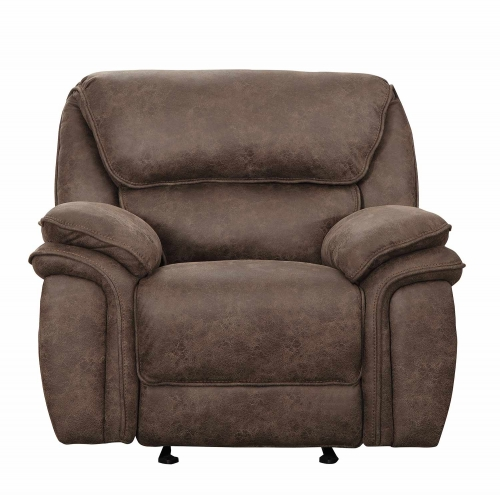 Hadden Glider Reclining Chair - Dark Brown