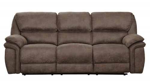Hadden Power Double Reclining Sofa - Dark Brown