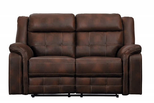 Keridge Double Reclining Love Seat - Brown