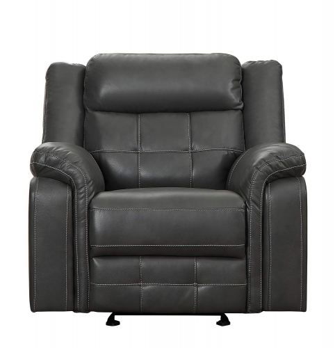 Keridge Glider Reclining Chair - Gray AireHyde