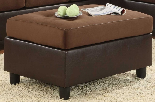 Comfort Living Ottoman Chocolate Finish
