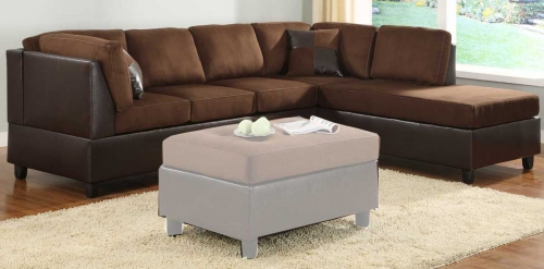 Comfort Living Reversible Sectional - Chocolate Finish
