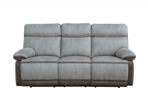Barilotto Power Double Reclining Sofa With Power Headrests - Gray