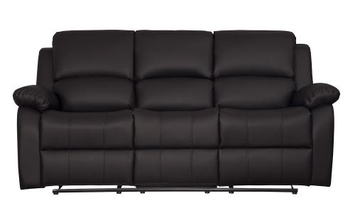 Clarkdale Double Reclining Sofa With Center Drop-Down Cup Holders - Dark Brown - Dark brown bi-cast vinyl