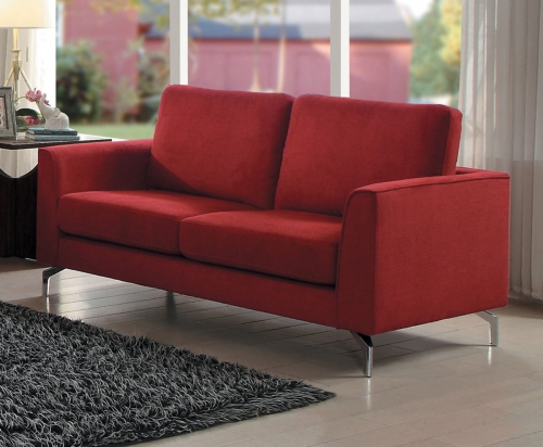 Canaan Love Seat - Red