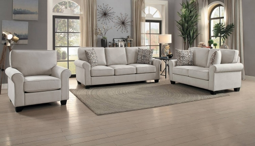 Selkirk Sofa Set - Sand Fabric