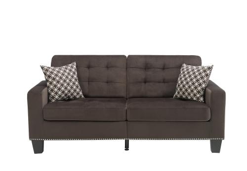 Lantana Sofa - Chocolate and Gray